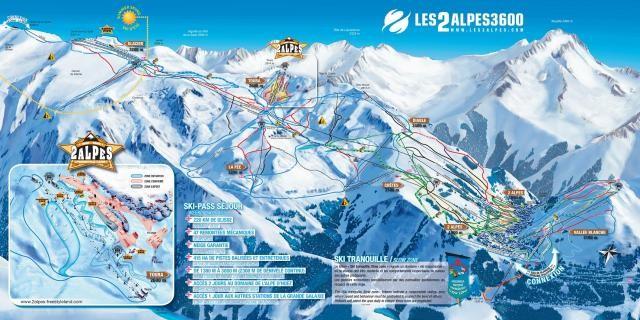 Mappa delle piste di Les 2 Alpes Il tuo parco giochi